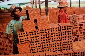 Brickfactories in Cambodia