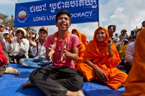 Demonstration in Phnom Penh