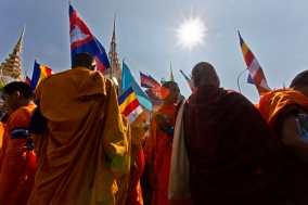 Human Rights march of the Monks and Supporters