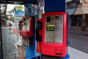 Public Phones in Bangkok, an enddangered Species
